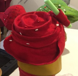 red hat with curls 3