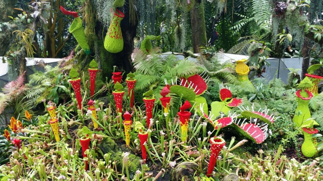 Lego installation in Singapore botanical gardens