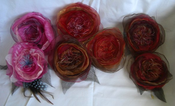 2. flower pins made by Judith (koffipot) forum member