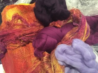 12 purple orange silk with wool