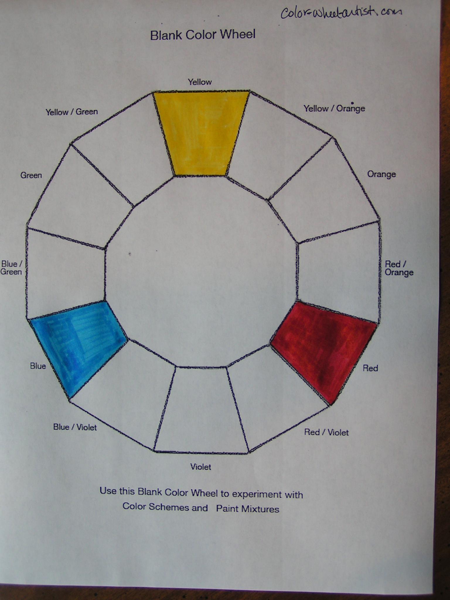 First Quarter Challenge Making A Color Wheel