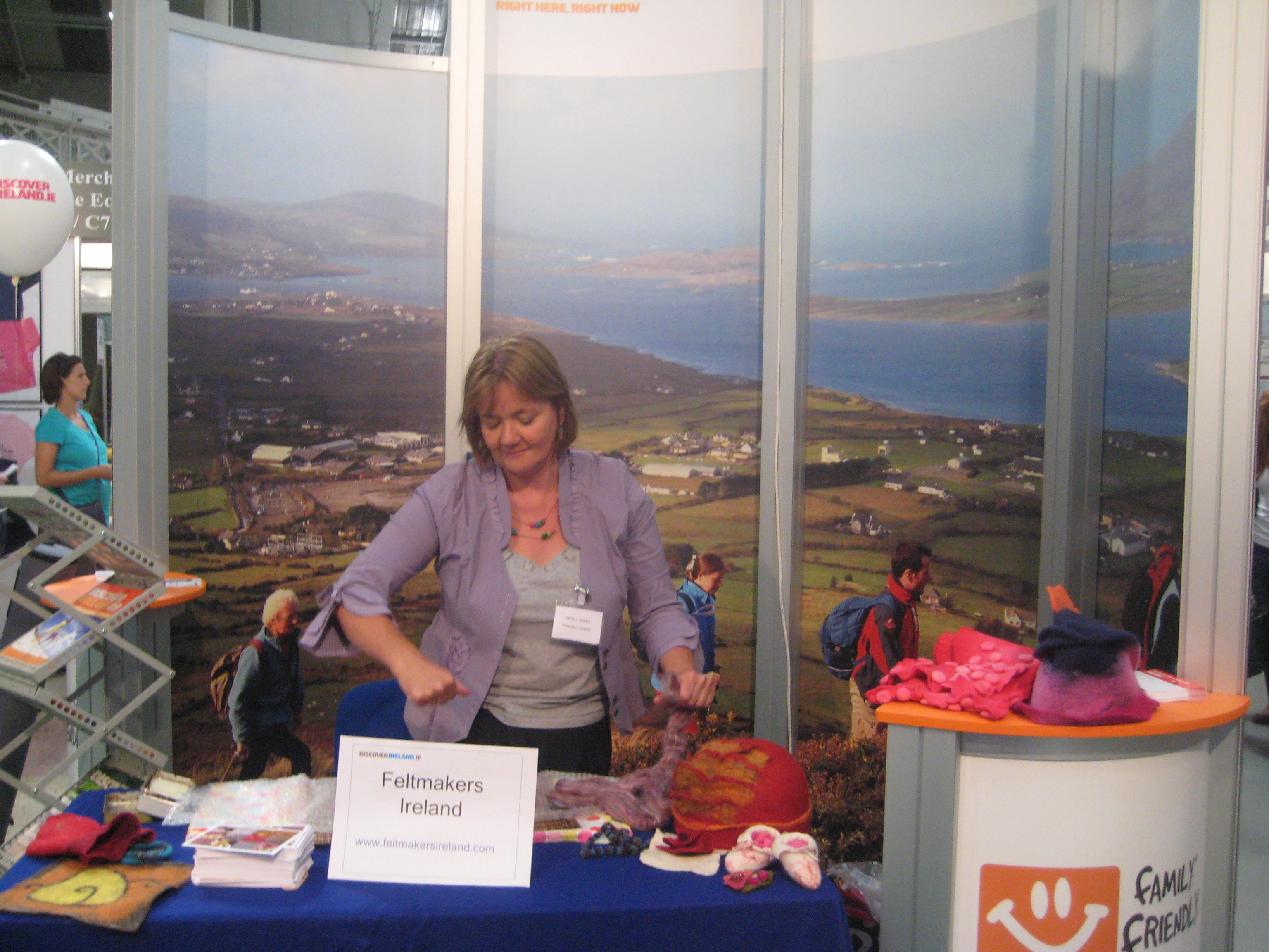 Feltmakers Ireland's stand at the RDS Horse Show