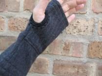 Grey with Black trim at thumb