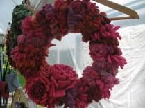 Repurposed wool wreath