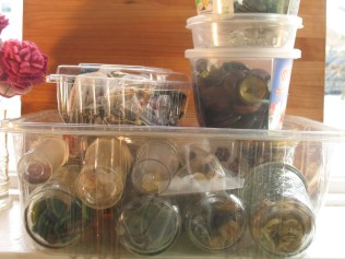 buttons in containers