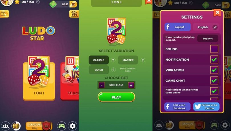 Ludo Star Mod Apk v1.14.71 (Auto-Win, Unlimited Gems/Coins)