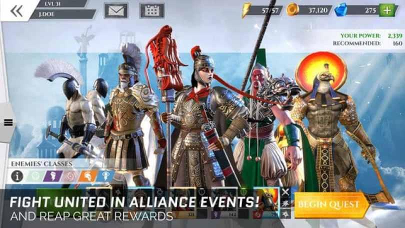 Gods of Rome Mod Apk