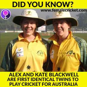 Alex and Kate Blackwell are first identical twins to play cricket for Australia