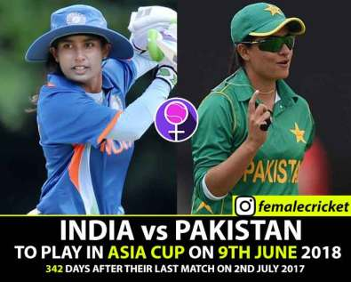 India meets Pakistan on 9th June 2018 in Asia Cup 2018