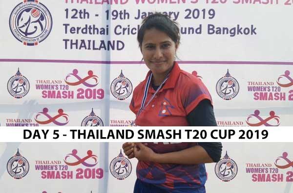 Match Summary - Day 5 of Thailand Women's T20 Smash 2019