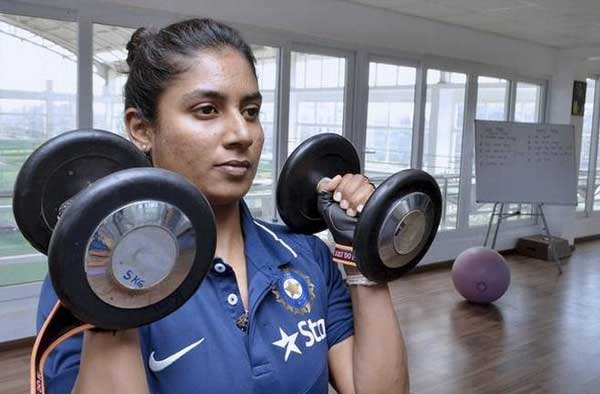 Mithali Raj exercise in Gym