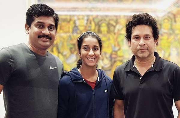 Jemimah Rodrigues with Sachin Tendulkar