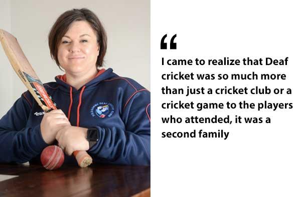 Melissa Hale inspiring deaf female cricketers