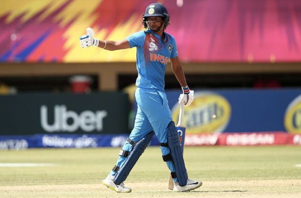 Harmanpreet Kaur scored a 49-ball hundred to help India post the highest ever total in the Women's WT20 (@WorldT20 Photo)