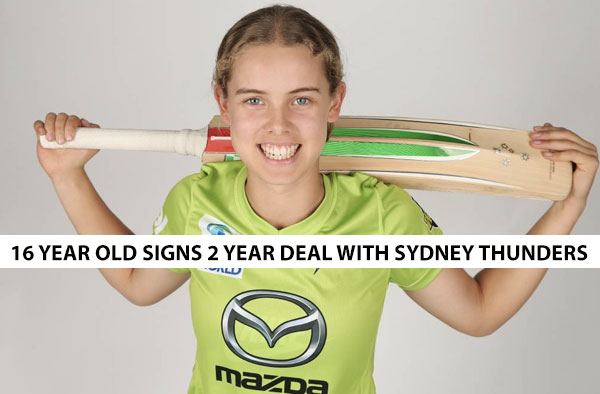 Phoebe Litchfield has inked a two-year deal with the Sydney Thunder. Photo: SYDNEY THUNDER