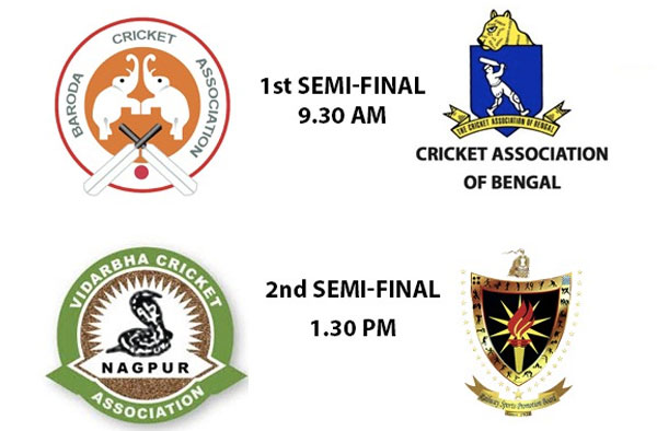 Semi-Finalists of Senior Women's T20 League 2019