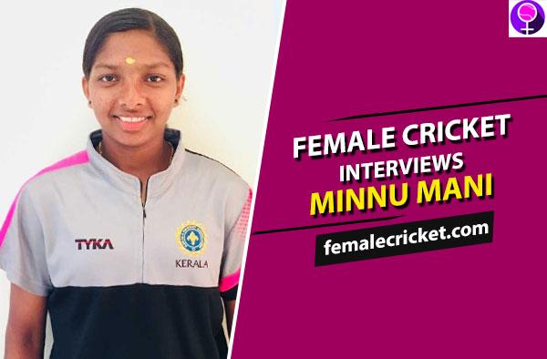 Female Cricket interviews Minnu Mani