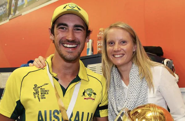 Mitchell Starc and Alyssa Healy. Pic Credits: ICC