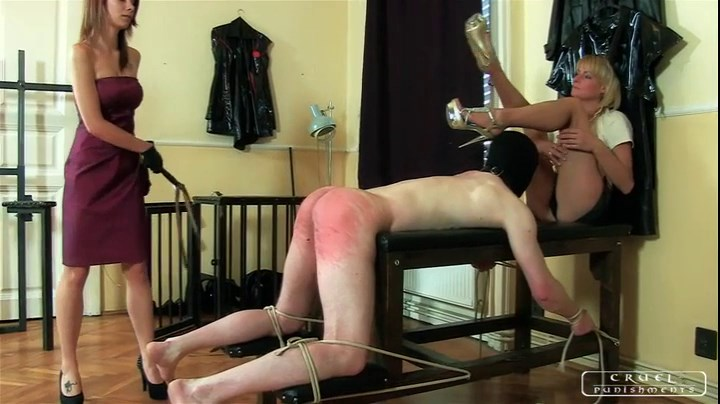 severe mistress caning