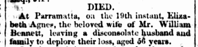 """""""FAMILY NOTICES,"""" Sydney Morning Herald (NSW: 1842 - 1954) Wednesday 20 October 1847, p.3"""