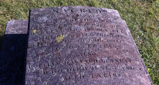 The Bennetts' gravestone in Section 2, Row F, No. 1 at St. John's Cemetery, Parramatta. Photo: Michaela Ann Cameron (2015)