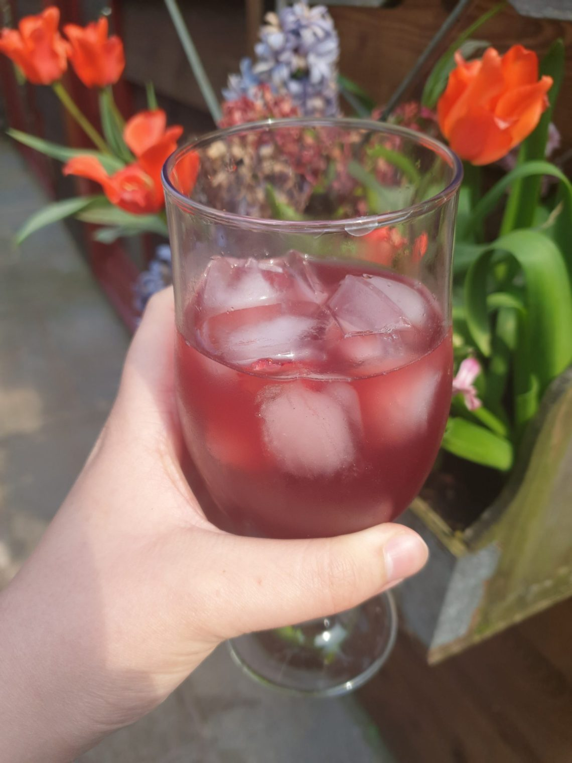 A glass of Sunny Sangria by Lollipop
