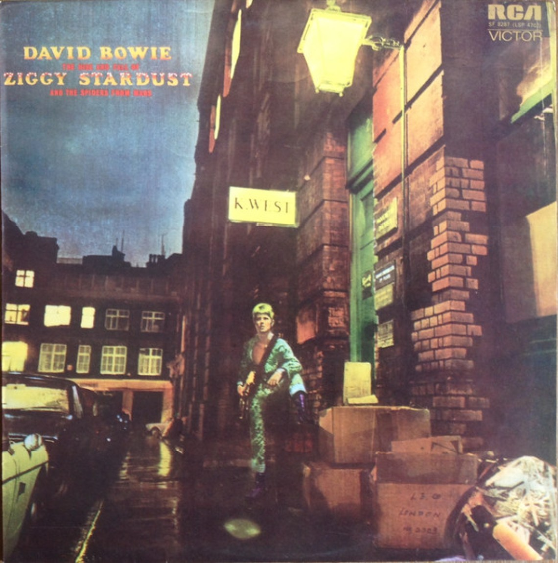 The Rise And Fall Of Ziggy Stardust And The Spiders From Mars (1972) album cover, David Bowie.