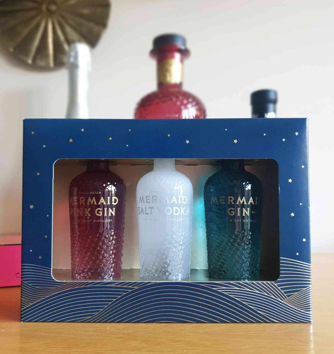 A pack of Mermaid Miniature Spirits. The Best Foodie Mother's Day Gifts.