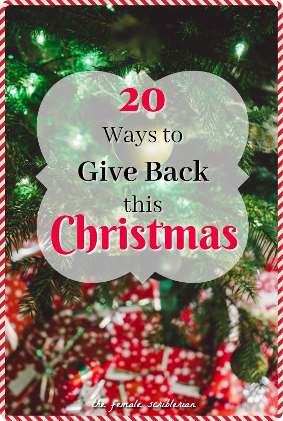 20 ways to give back this christmas