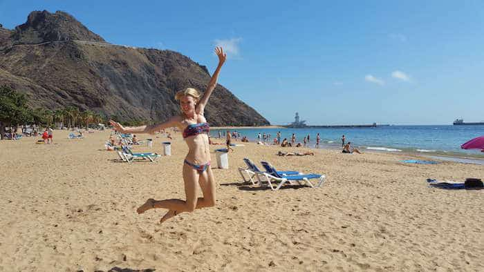 Best beaches in Tenerife Las Teresitas Beach