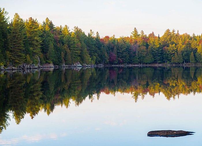 Foliage at Sagamore Lake in the Adirondack Park