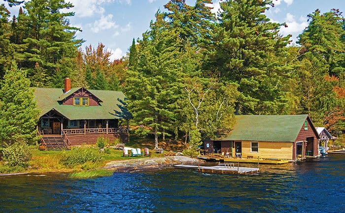 Great Camps have been built all around Raquette Lake