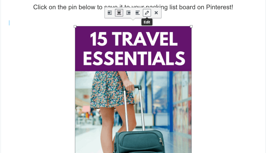 how to embed a Pinterest pin