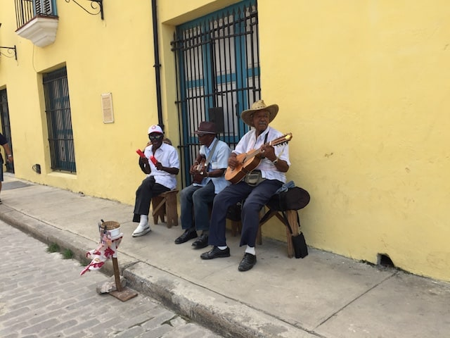 Cuban Street Musicians Female Travel Blogges