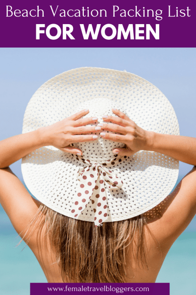 """""""Are you planning a beach vacation this year? If so, you have to check out this beach packing list for women. We included everything from floppy beach sunhats, the best drink coolers, our favorite sunglasses for the beach, cute beach towels and more. Come check it out and grab all of this cute beach gear before your next beach vacay. Don't forget to save this to your beach board so you can find it later. #beach #beachpackinglist #packinglist #beachessentials #femaletravelbloggers"""""""