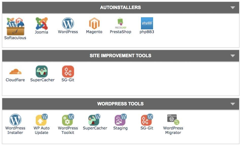 Improve your Site Speed SiteGround Site Improvement Tools