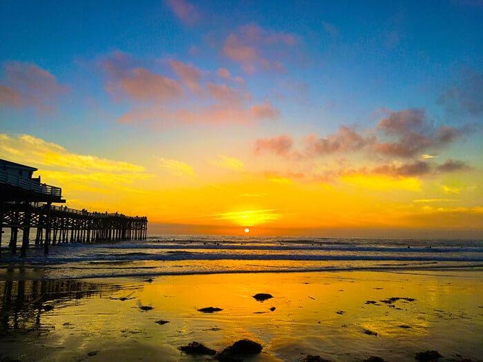 Sunset over Pacific Beach