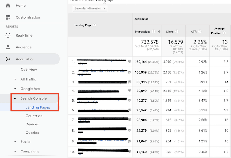 connecting Google Search console and Google Analytics