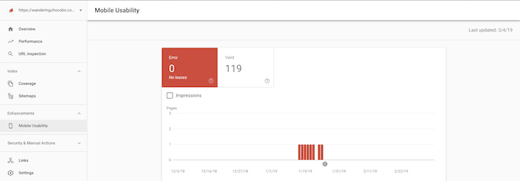 google search console mobile first