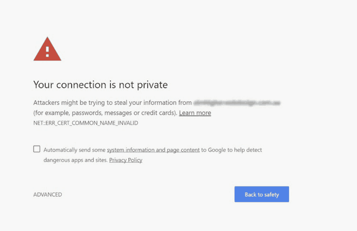 site not secure SEO mistake