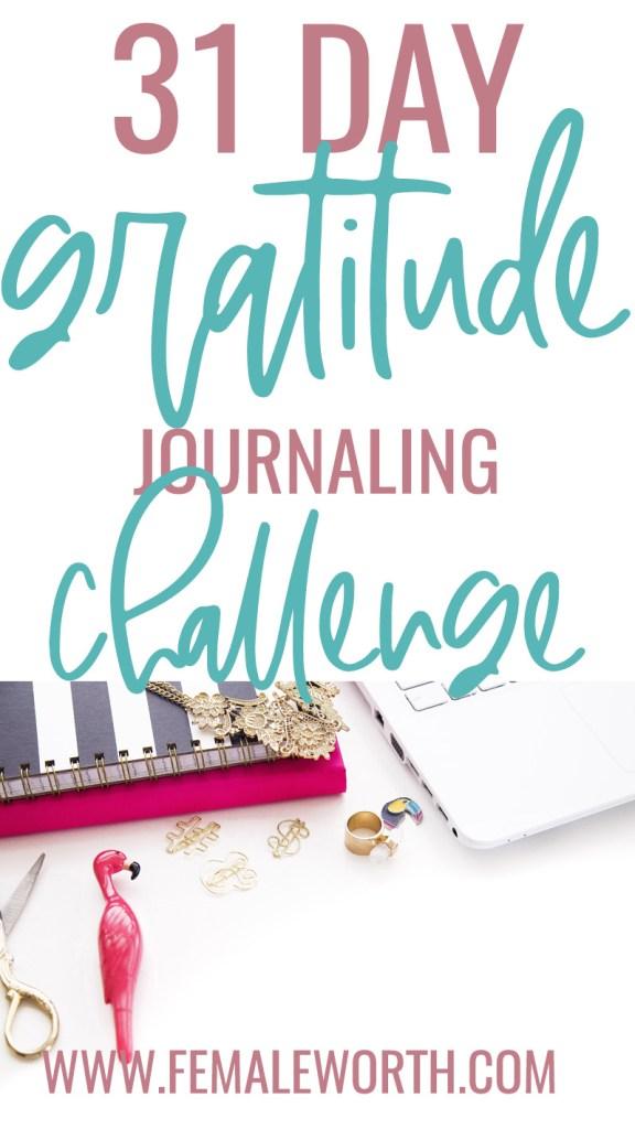 31 Day Gratitude Journaling Challenge