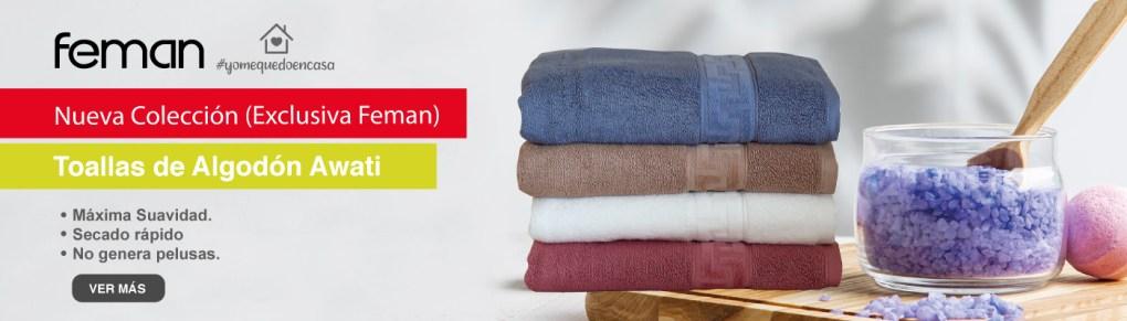 Toallas algodon awati feman chile ropa de cama