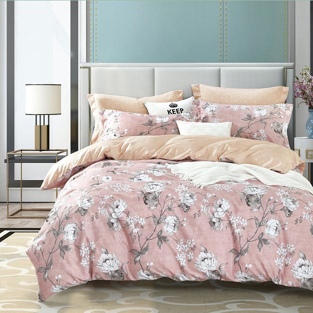 plumon rosado estampado floreado