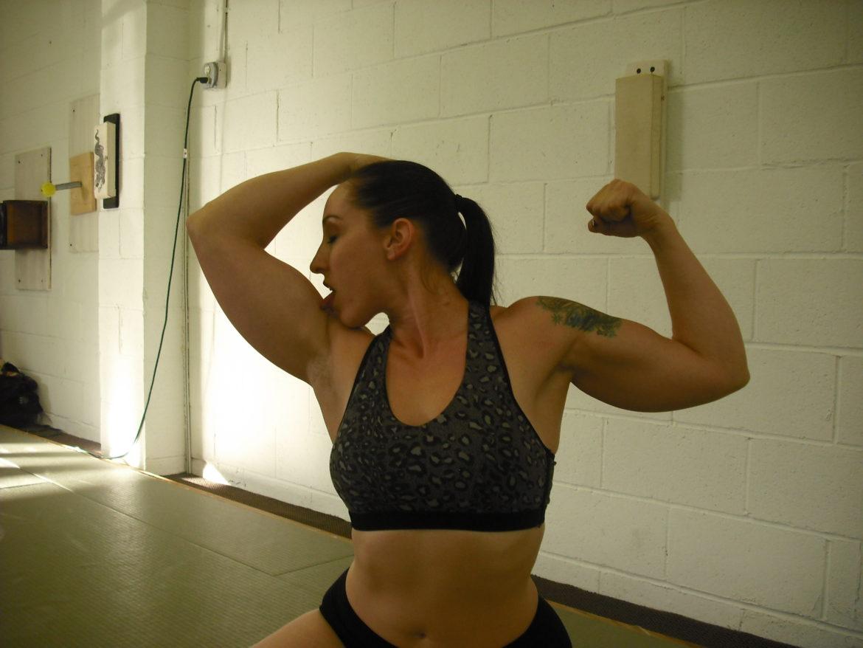 Arm Wrestling Girl Biceps Fitness