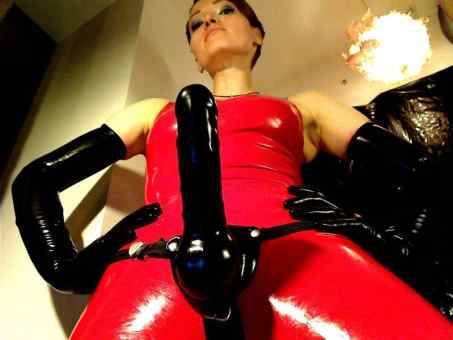 latex strapon cams