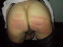 sissy caned