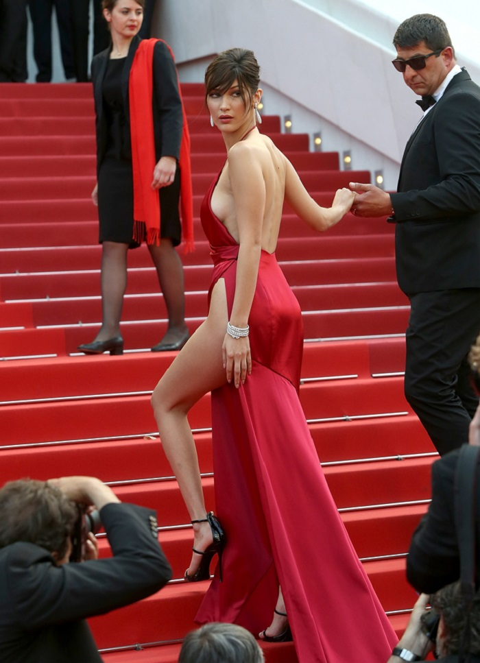 "CANNES, FRANCE - MAY 18: Bella Hadid attends the ""The Unknown Girl (La Fille Inconnue)"" Photocall during the 69th annual Cannes Film Festival on May 18, 2016 in Cannes, France. (Photo by Danny Martindale/FilmMagic)"