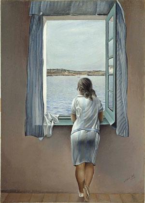 Muchacha frente a la ventana, 1925. Salvador Dalí