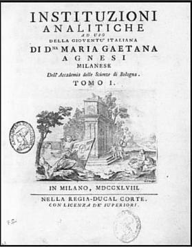 Llibre de matemàtiques de Gaetana