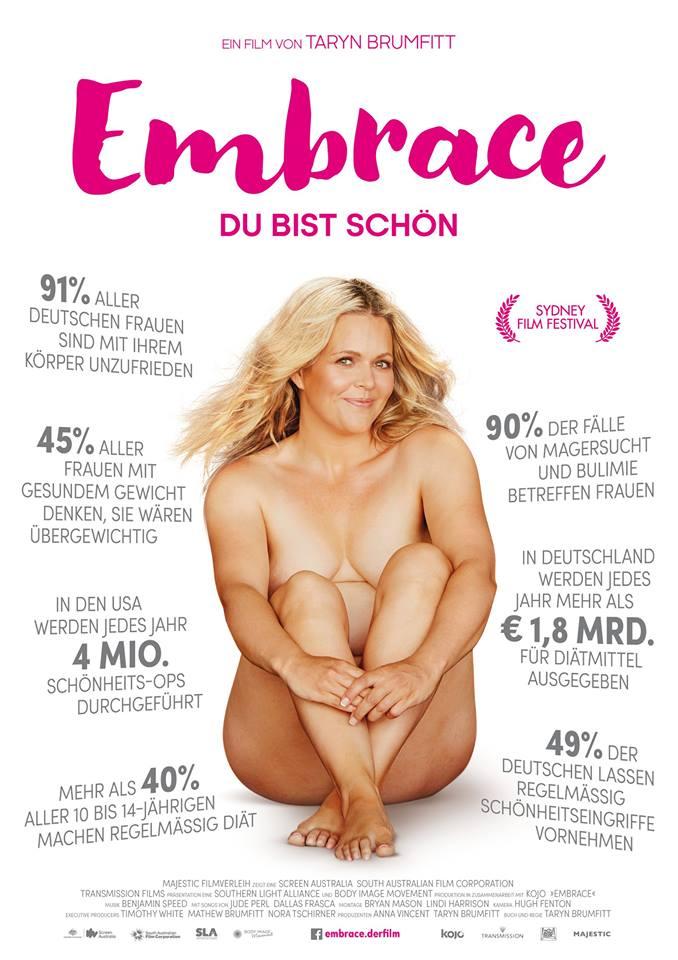 Das Filmposter des Films. Taryn sitzt nackt in der Mitte. Um sie herum verschiedene Statistiken.